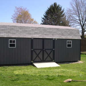 14x24 Hi-Side Barn With Painted T1-11 Siding